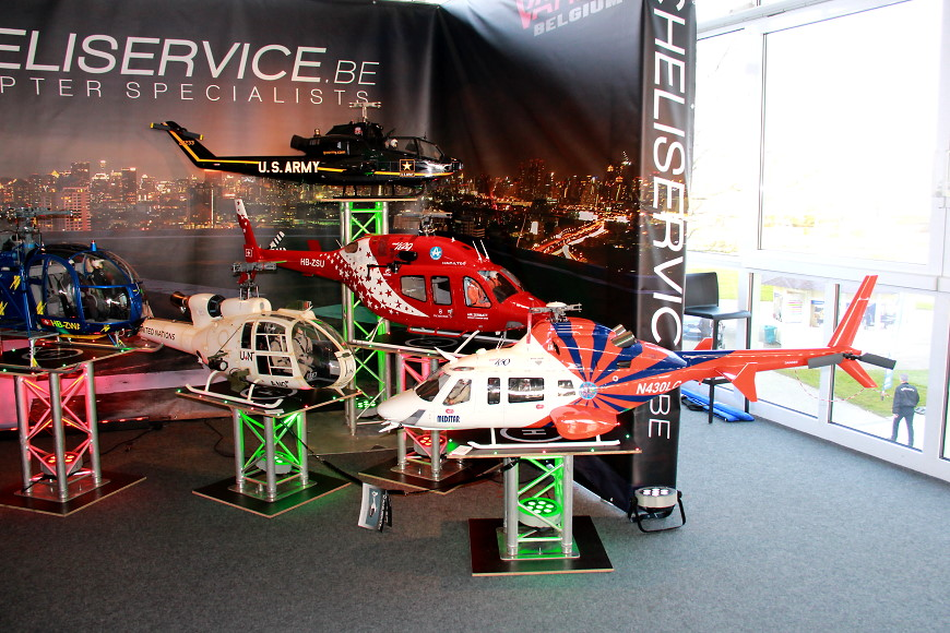 ROTOR live 2017: Diverse Scale Helikopter am VARIO Belgium-Stand